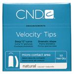 CND Velocity Tips Natural 50ct Refill
