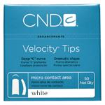 CND Velocity Tips White 50ct Refill