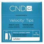 BOGO CND Velocity Tips White Size 6 - 50ct