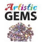Artistic Gems Brilliant Rhinestones 144ct